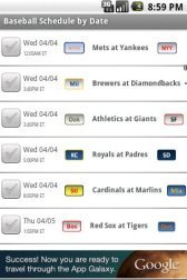 download Baseball Schedule 2012 apk