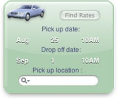 download Car Rental Widget mac