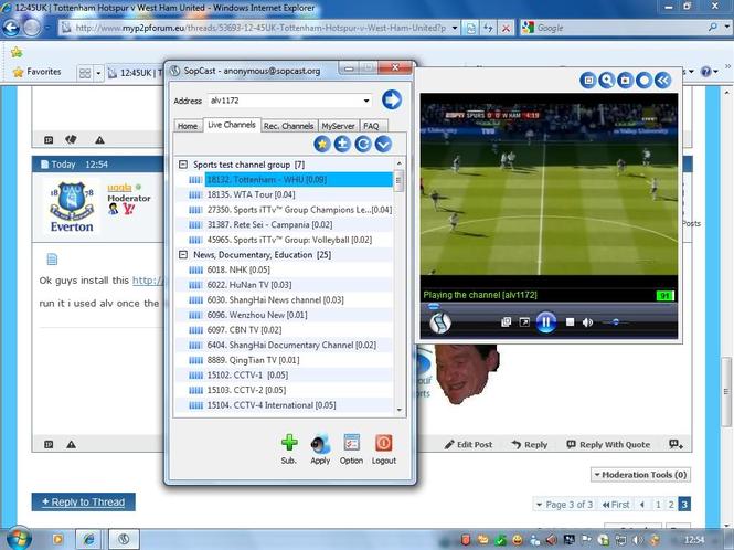 Sopcast для windows 10