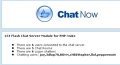 download PHP-Nuke Chat Addon for 123 Flash Chat