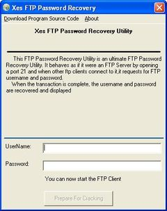 download Xes FTP Password Recovery