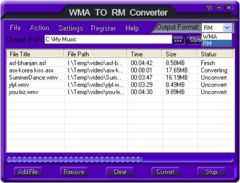 download Free WMA TO RM Converter