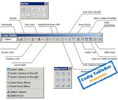 download AutoCAD Table - { Cadig TableBar 2.4 }