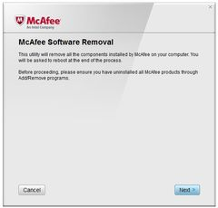 download McAfee Consumer Product Removal tool