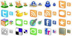 download Free 3D Social Icons