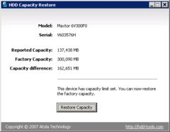 download HDD Capacity Restore