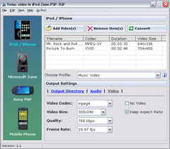 download Twins Video to iPod-Zune-PSP-3GP