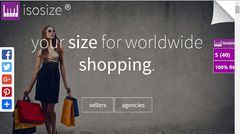 download isosize clothing size widget