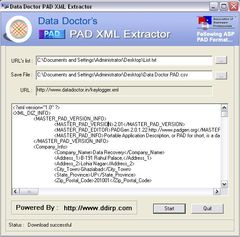download PAD Information Extraction Utility