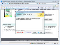 download CloudBerry Twitter plug-in for IE