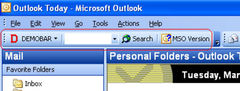 download Demo toolbar for Microsoft Outlook (MSODemoToolbar).