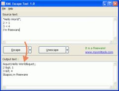download XML Escape Tool