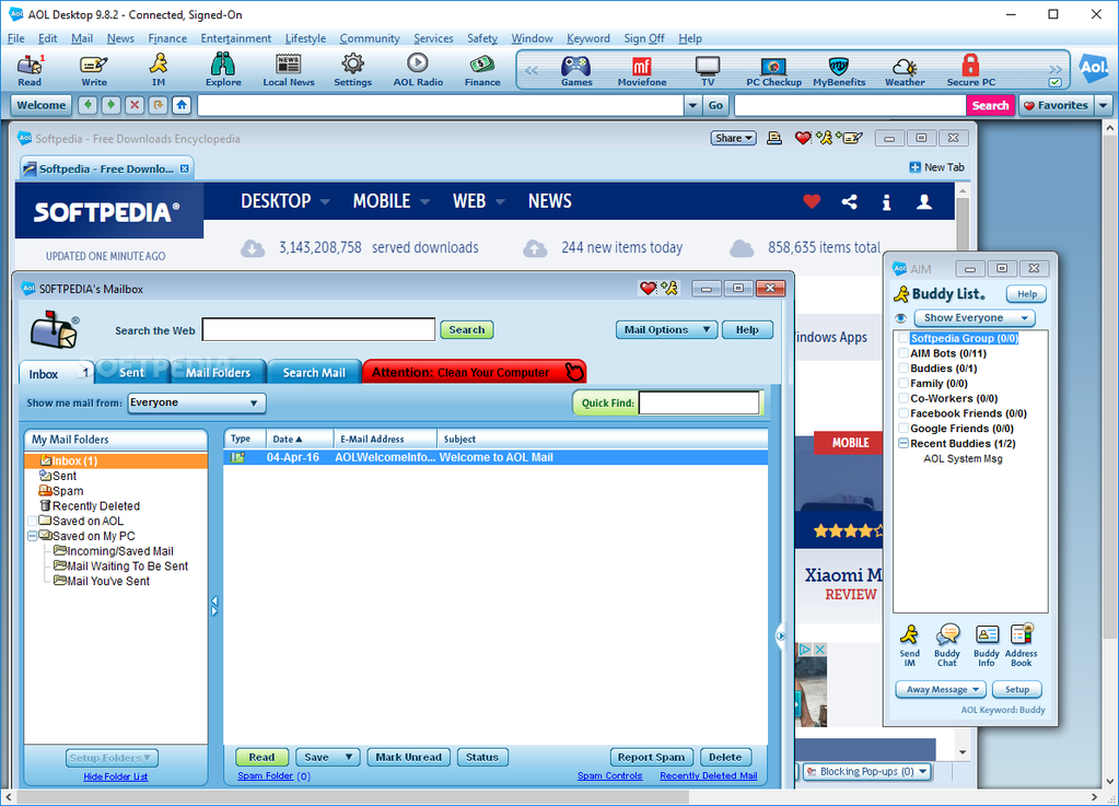 Aol Desktop 9 8 2 For Windows Filesbear