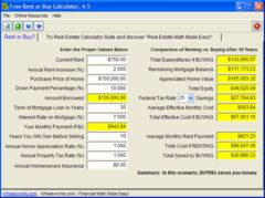 download Free Rent or Buy Calculator